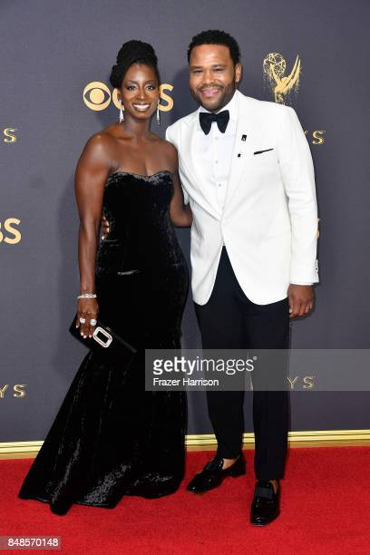 Actor Anthony Anderson and Alvina Stewart attend the 69th Annual Primetime Emmy Awards at Microsoft Theater on September 17 2017 in Los Angeles...