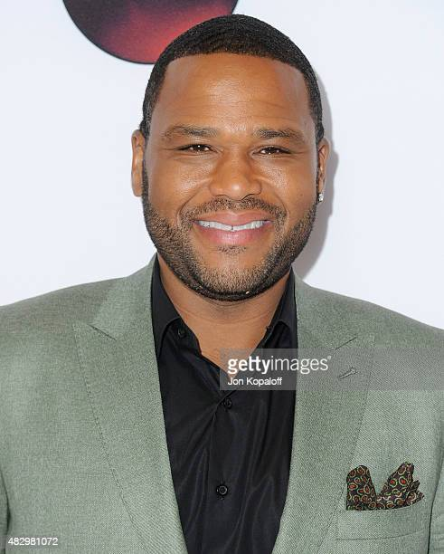 Actor Anthony Anderson arrives at Disney ABC Television Group's 2015 TCA Summer Press Tour at the Beverly Hilton Hotel on August 4 2015 in Beverly...