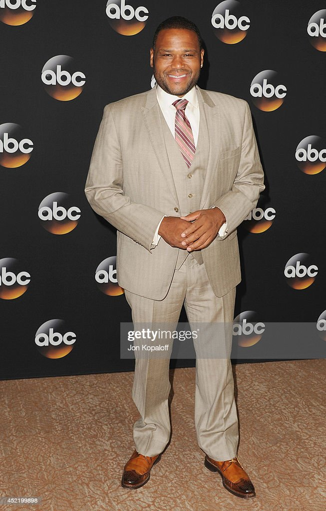 Actor <a gi-track='captionPersonalityLinkClicked' href=/galleries/search?phrase=Anthony+Anderson&family=editorial&specificpeople=202577 ng-click='$event.stopPropagation()'>Anthony Anderson</a> arrives the Disney|ABC Television Group 2014 Television Critics Association Summer Press Tour at The Beverly Hilton Hotel on July 15, 2014 in Beverly Hills, California.
