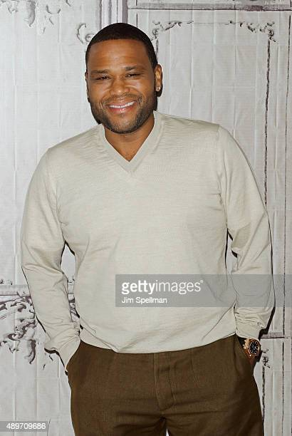 Actor Anthony Anderson attends AOL Build Presents 'blackish' at AOL Studios In New York on September 23 2015 in New York City