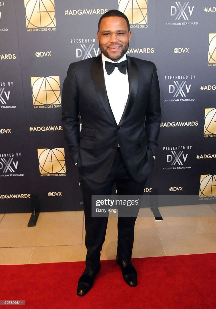 Actor Anthony Anderson attends Art Directors Guild 20th Annual Excellence in Production Awards at The Beverly Hilton Hotel on January 31 2016 in...