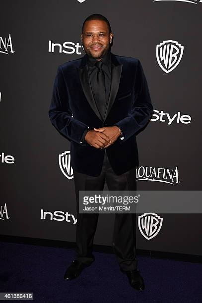Actor Anthony Anderson attends the 2015 InStyle And Warner Bros 72nd Annual Golden Globe Awards PostParty at The Beverly Hilton Hotel on January 11...