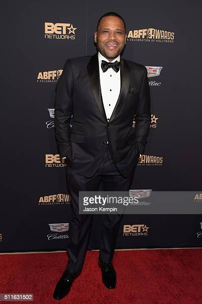 Actor Anthony Anderson attends the 2016 ABFF Awards A Celebration Of Hollywood at The Beverly Hilton Hotel on February 21 2016 in Beverly Hills...