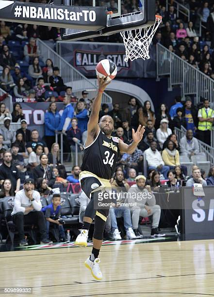 Actor Anthony Anderson attends the 2016 NBA AllStar Celebrity Game at Ricoh Coliseum on February 12 2016 in Toronto Canada