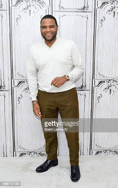 Actor Anthony Anderson attends the AOL Build Presents 'blackish' at AOL Studios on September 23 2015 in New York City