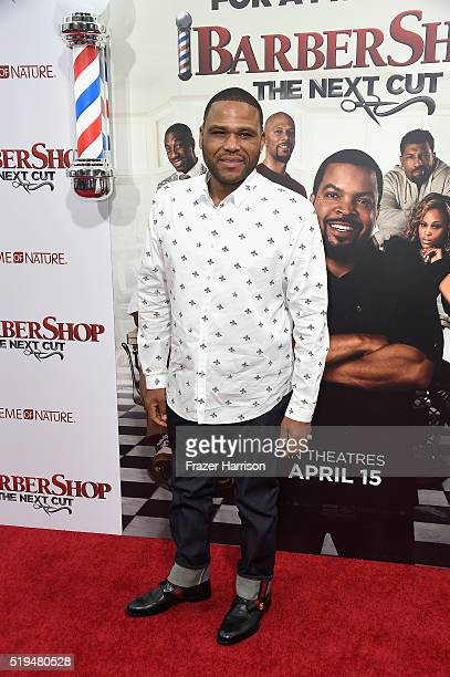 Actor Anthony Anderson attends the premiere of New Line Cinema's 'Barbershop The Next Cut' at TCL Chinese Theatre on April 6 2016 in Hollywood...