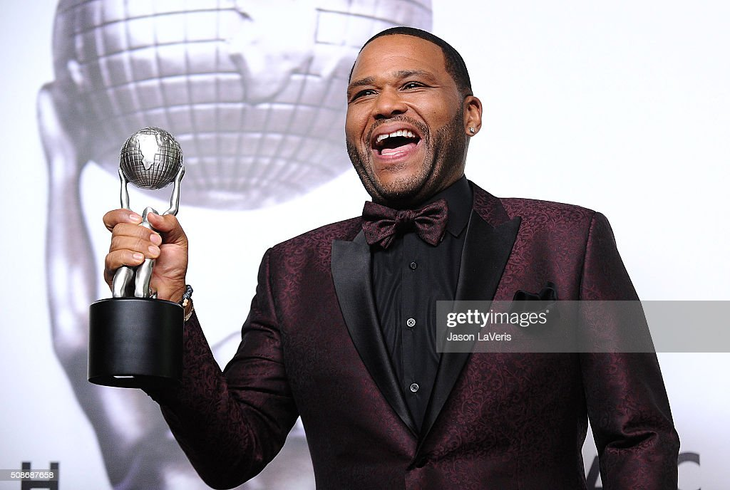 Actor Anthony Anderson poses in the press room at the 47th NAACP Image Awards at Pasadena Civic Auditorium on February 5, 2016 in Pasadena, California.