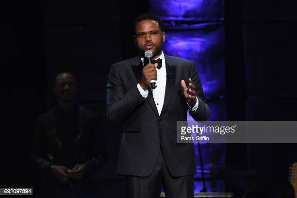 Actor Anthony Anderson speaks onstage at 2017 Andrew Young International Leadership Awards and 85th Birthday Tribute at Philips Arena on June 3 2017...