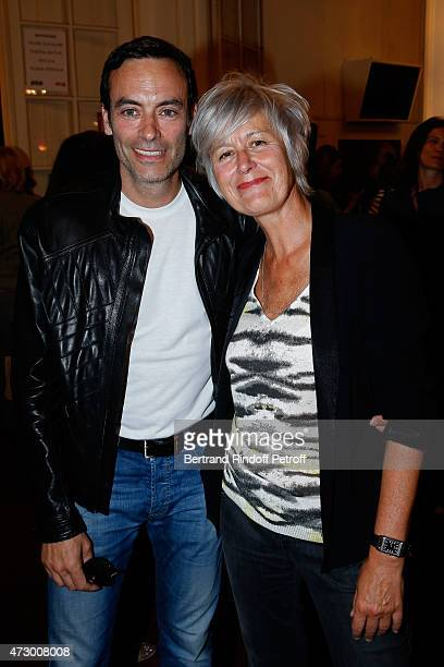 Actor Anthony Delon and Journalist Annie Lemoine attend the 'Open Space' Theater Play at Theatre de Paris on May 11 2015 in Paris France
