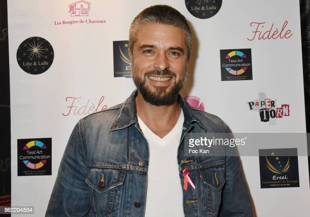 Actor Anthony Dupray attends the 'Souffle de Violette' Auction Party As part of 'Octobre Rose' Hosted by Ereel at Fidele Club on October 16 2017 in...