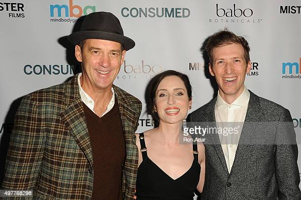 Actor Anthony Edwards Actress Zoe Lister Jones and Director Daryl Wein attend the 'Consumed' New York Premiere at AMC Loews 19th Street Theater on...