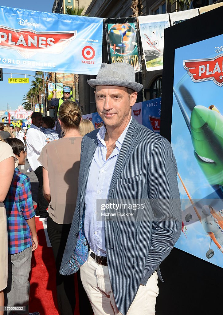 """Actor Anthony Edwards attends the world-premiere of """"Disney's Planes"""" presented by Target at the El Capitan Theatre on August 5, 2013 in Hollywood, California."""