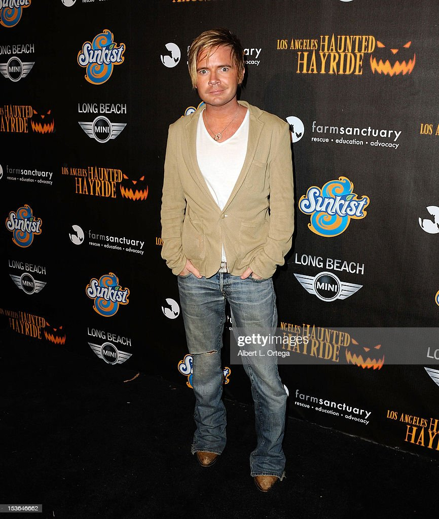 Actor Anthony Fitzgerald arrives for the 4th Annual Los Angeles Haunted Hayride - 'The Congregation' - Arrivals held at Griffith Park on October 7, 2012 in Los Angeles, California.