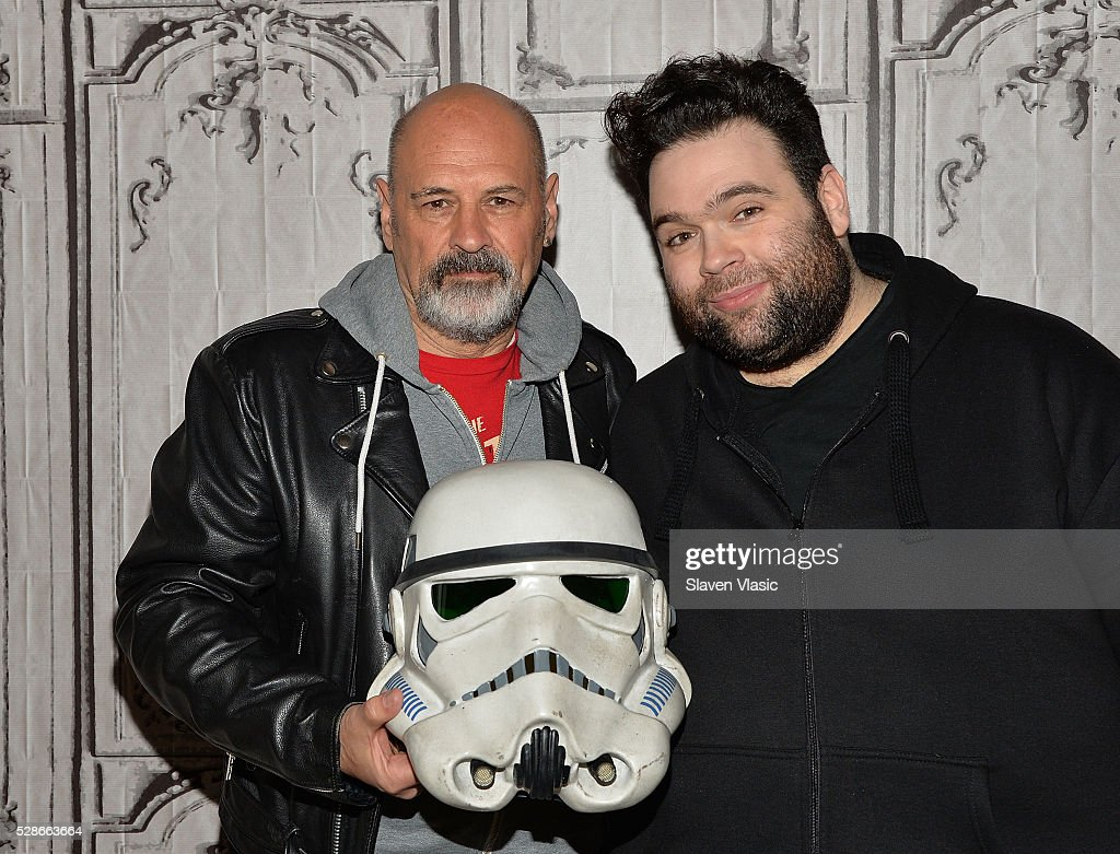 Actor Anthony Forrest (L) and director/writer Jon Spira visit AOL Build to discuss their new film 'Elstree 1976' at AOL Studios In New York on May 6, 2016 in New York City.