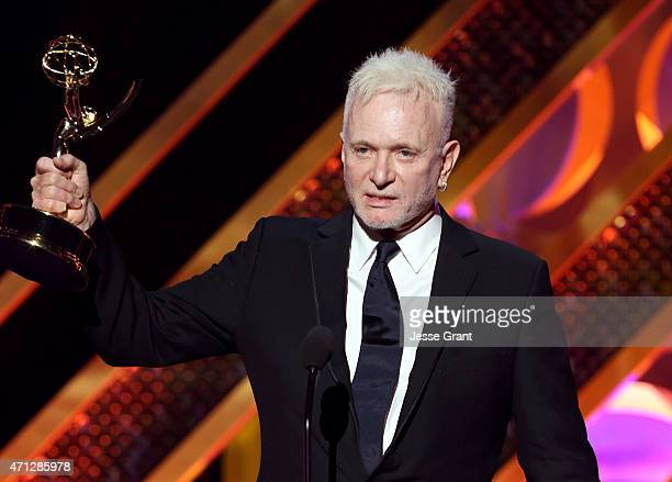 Actor Anthony Geary accepts the Outstanding Lead Actor in a Drama Series award for 'General Hospital' onstage during The 42nd Annual Daytime Emmy...