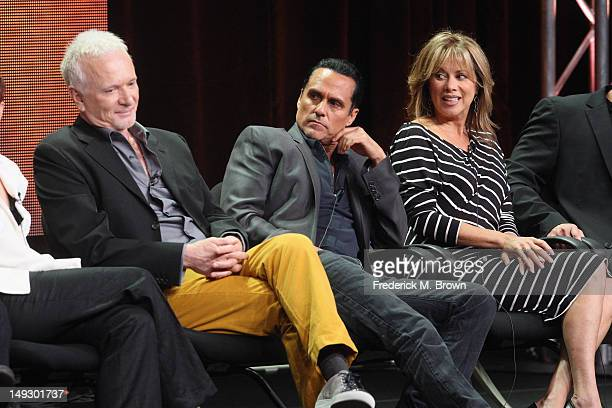 Actor Anthony Geary actor Maurice Benard and actress Nancy Lee Grahn speak onstage at the 'General Hospital' panel during day 6 of the Disney...