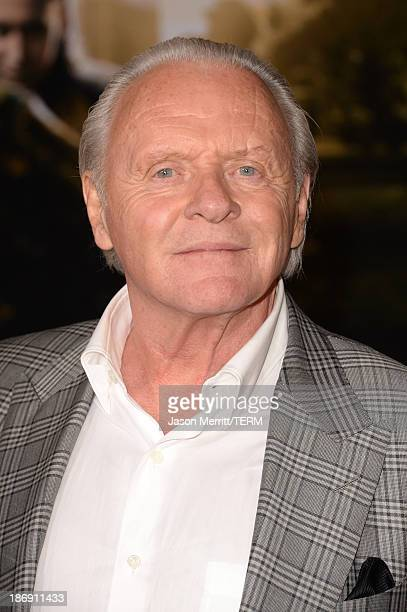 Actor Anthony Hopkins arrives at the premiere of Marvel's 'Thor The Dark World' at the El Capitan Theatre on November 4 2013 in Hollywood California