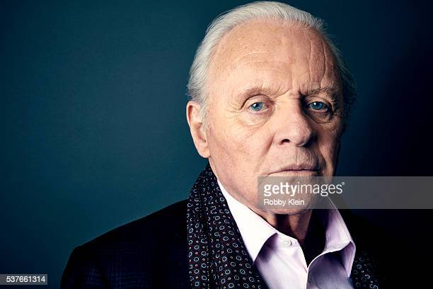 Actor Anthony Hopkins is photographed for The Wrap on January 28 2016 in Los Angeles California