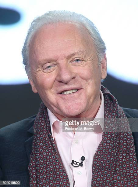 Actor Anthony Hopkins speaks onstage during The Dresser panel as part of the Starz portion of This is Cable 2016 Television Critics Association...