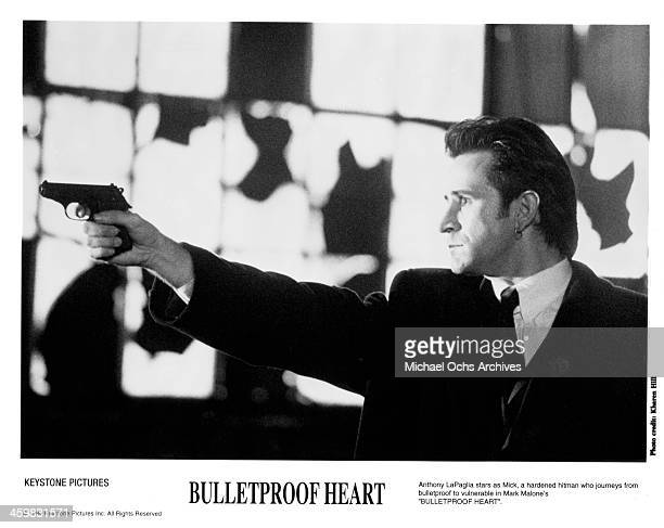 Actor Anthony LaPaglia on set of the movie 'Killer' aka Bulletproof Heart circa 1994