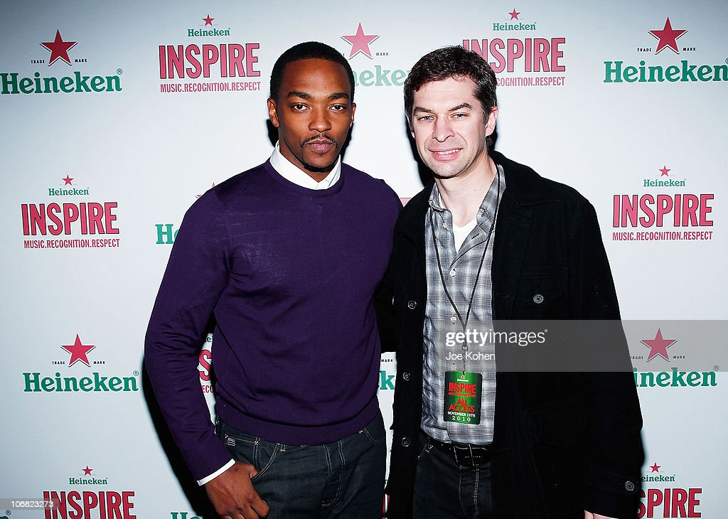 Actor <a gi-track='captionPersonalityLinkClicked' href=/galleries/search?phrase=Anthony+Mackie&family=editorial&specificpeople=206212 ng-click='$event.stopPropagation()'>Anthony Mackie</a> and Filip Wouters, Heineken vice president of marketing attend Heineken Inspire Encore Event featuring Nas, Cee Lo Green, Diplo, Pete Rock, J. Cole and Roxy Cottontail at Basketball City - Pier 36 - South Street on November 13, 2010 in New York City.