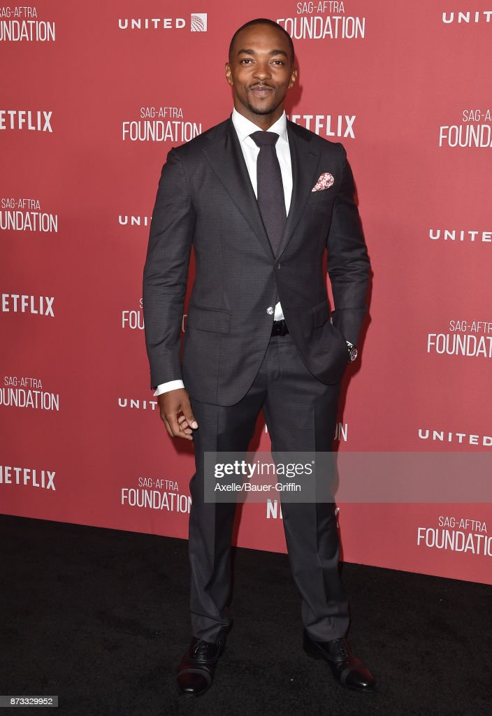 Actor Anthony Mackie arrives at SAG-AFTRA Foundation Patron of the Artists Awards 2017 on November 9, 2017 in Beverly Hills, California.