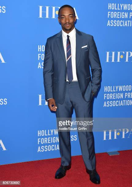 Actor Anthony Mackie arrives at the Hollywood Foreign Press Association's Grants Banquet at the Beverly Wilshire Four Seasons Hotel on August 2 2017...