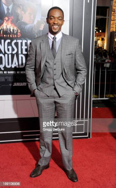 Actor Anthony Mackie arrives at the Los Angeles premiere of 'Gangster Squad' at Grauman's Chinese Theatre on January 7 2013 in Hollywood California