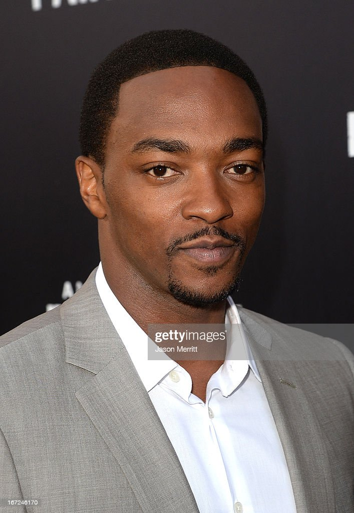Actor <a gi-track='captionPersonalityLinkClicked' href=/galleries/search?phrase=Anthony+Mackie&family=editorial&specificpeople=206212 ng-click='$event.stopPropagation()'>Anthony Mackie</a> arrives at the premiere of Paramount Pictures' 'Pain & Gain' at TCL Chinese Theatre on April 22, 2013 in Hollywood, California.