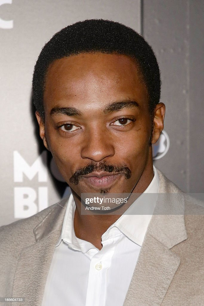 Actor <a gi-track='captionPersonalityLinkClicked' href=/galleries/search?phrase=Anthony+Mackie&family=editorial&specificpeople=206212 ng-click='$event.stopPropagation()'>Anthony Mackie</a> attend the Montblanc Madison Avenue store opening on October 22, 2013 in New York City.