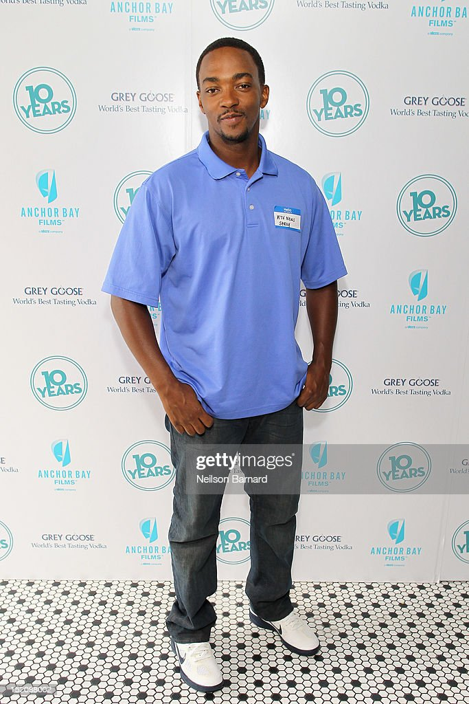 Actor Anthony Mackie attends '10 Years' brunch reunion event hosted by GREY GOOSE Vodka And Anchor Bay Films at Hotel Chantelle on September 16, 2012 in New York City.