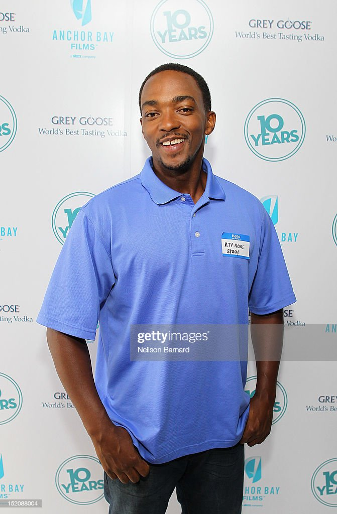 Actor <a gi-track='captionPersonalityLinkClicked' href=/galleries/search?phrase=Anthony+Mackie&family=editorial&specificpeople=206212 ng-click='$event.stopPropagation()'>Anthony Mackie</a> attends '10 Years' brunch reunion event hosted by GREY GOOSE Vodka And Anchor Bay Films at Hotel Chantelle on September 16, 2012 in New York City.