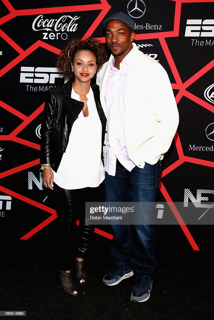 Actor Anthony Mackie (R) attends ESPN The Magazine's 'NEXT' Event at Tad Gormley Stadium on February 1, 2013 in New Orleans, Louisiana.