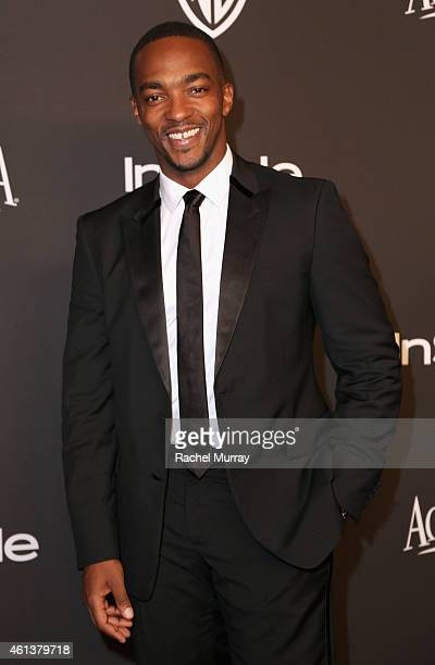 Actor Anthony Mackie attends the 2015 InStyle And Warner Bros 72nd Annual Golden Globe Awards PostParty at The Beverly Hilton Hotel on January 11...