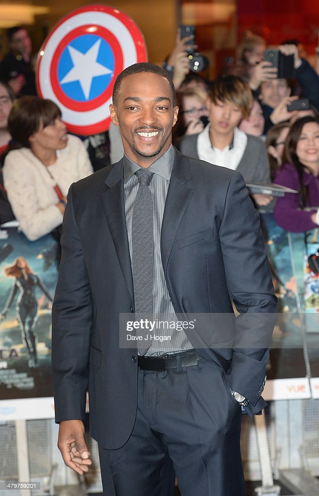 Actor Anthony Mackie attends the 'Captain America: The Winter Soldier' UK film premiere at Westfield on March 20, 2014 in London, England.