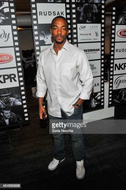 Actor Anthony Mackie attends the NKPR IT Lounge Portrait Studio With W Magazine on Day 4 during the 2014 Toronto International Film Festival at the...