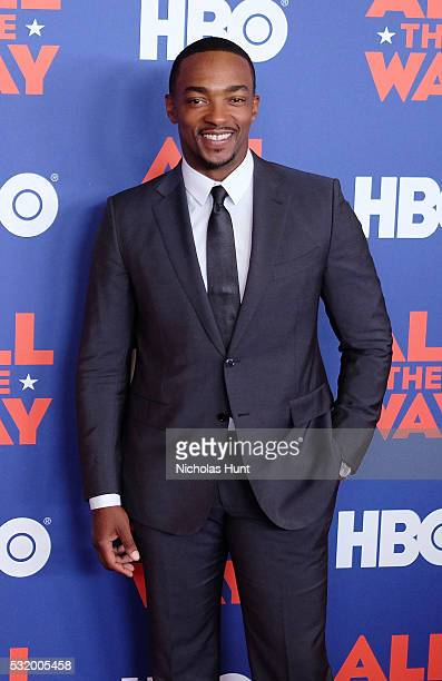 Actor Anthony Mackie attends the NYC special screening of HBO Films' 'All The Way' at Jazz at Lincoln Center on May 17 2016 in New York City