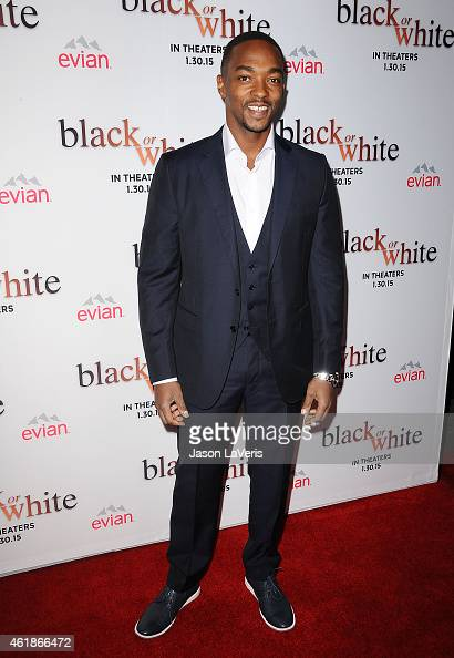 Actor Anthony Mackie attends the premiere of 'Black or White' at Regal Cinemas LA Live on January 20 2015 in Los Angeles California