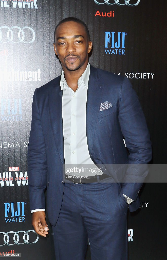 Actor Anthony Mackie attends the screening of Marvel's 'Captain America: Civil War' hosted by The Cinema Society with Audi & FIJI at Brookfield Place on May 4, 2016 in New York City.