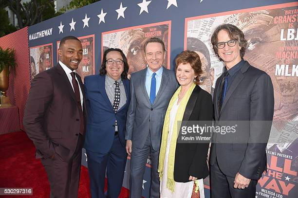 Actor Anthony Mackie president of HBO Films Len Amato actors Bryan Cranston and Melissa Leo and director/executive producer Jay Roach attend the 'All...