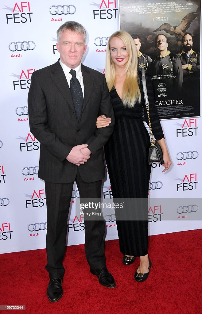 Actor <a gi-track='captionPersonalityLinkClicked' href=/galleries/search?phrase=Anthony+Michael+Hall&family=editorial&specificpeople=213221 ng-click='$event.stopPropagation()'>Anthony Michael Hall</a> and actress Lucia Oskerova arrive at AFI FEST 2014 Presented By Audi - Closing Night Premiere of 'Foxcatcher' at Dolby Theatre on November 13, 2014 in Hollywood, California.