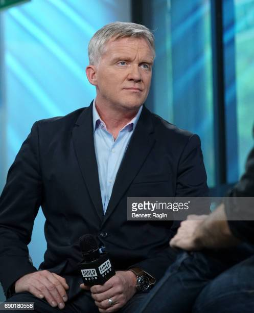 Actor Anthony Michael Hall attends the Build series to discuss 'War Machine' at Build Studio on May 30 2017 in New York City