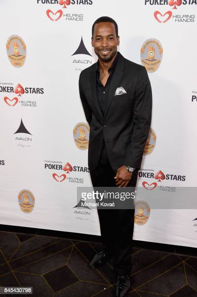 Actor Anthony Montgomery at the Heroes for Heroes Los Angeles Police Memorial Foundation Celebrity Poker Tournament at Avalon on September 10 2017 in...