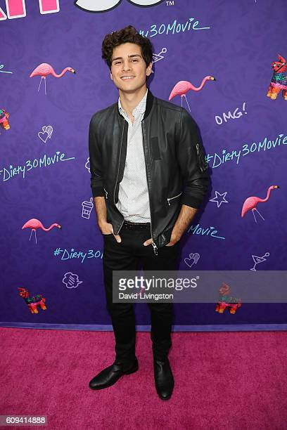 Actor Anthony Padilla arrives at the Premiere of Lionsgate's 'Dirty 30' at the ArcLight Hollywood on September 20 2016 in Hollywood California