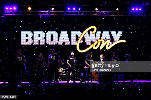 Actor Anthony Rapp and performers attend BroadwayCon 2016 at the Hilton Midtown on January 22 2016 in New York City