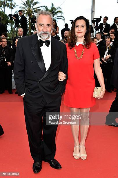 Actor Antoine Dulery and Pascale Pouzadoux attend the 'Money Monster' premiere during the 69th annual Cannes Film Festival at the Palais des...