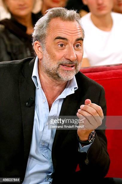 Actor Antoine Dulery presents his show 'Antoine Dulery fait son cinema ' during the 'Vivement Dimanche' French TV Show at Pavillon Gabriel on...