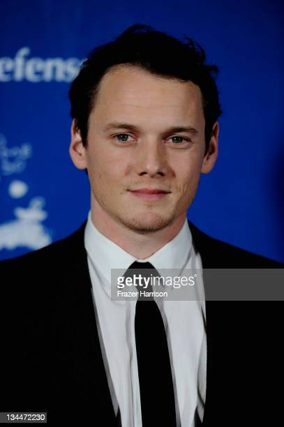 Actor Anton Yelchin arrives at The Children's Defense Fund's 21st Annual Beat The Odds Awards at Beverly Hills Hotel on December 1 2011 in Beverly...