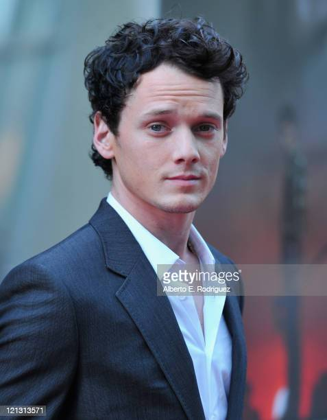 Actor Anton Yelchin arrives to a screening of Dreamworks Pictures' 'Fright Night' on August 17 2011 in Hollywood California