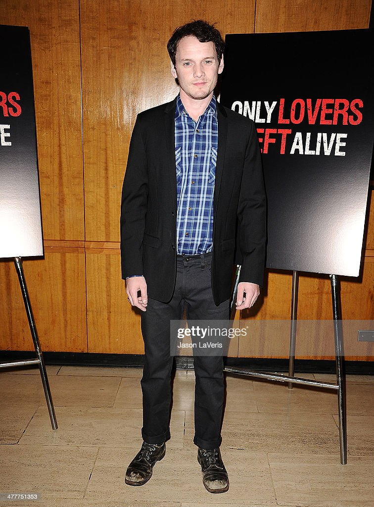 Actor <a gi-track='captionPersonalityLinkClicked' href=/galleries/search?phrase=Anton+Yelchin&family=editorial&specificpeople=793274 ng-click='$event.stopPropagation()'>Anton Yelchin</a> attends the Academy of Motion Picture Arts & Sciences screening of 'Only Lovers Left Alive' at Bing Theatre At LACMA on March 10, 2014 in Los Angeles, California.